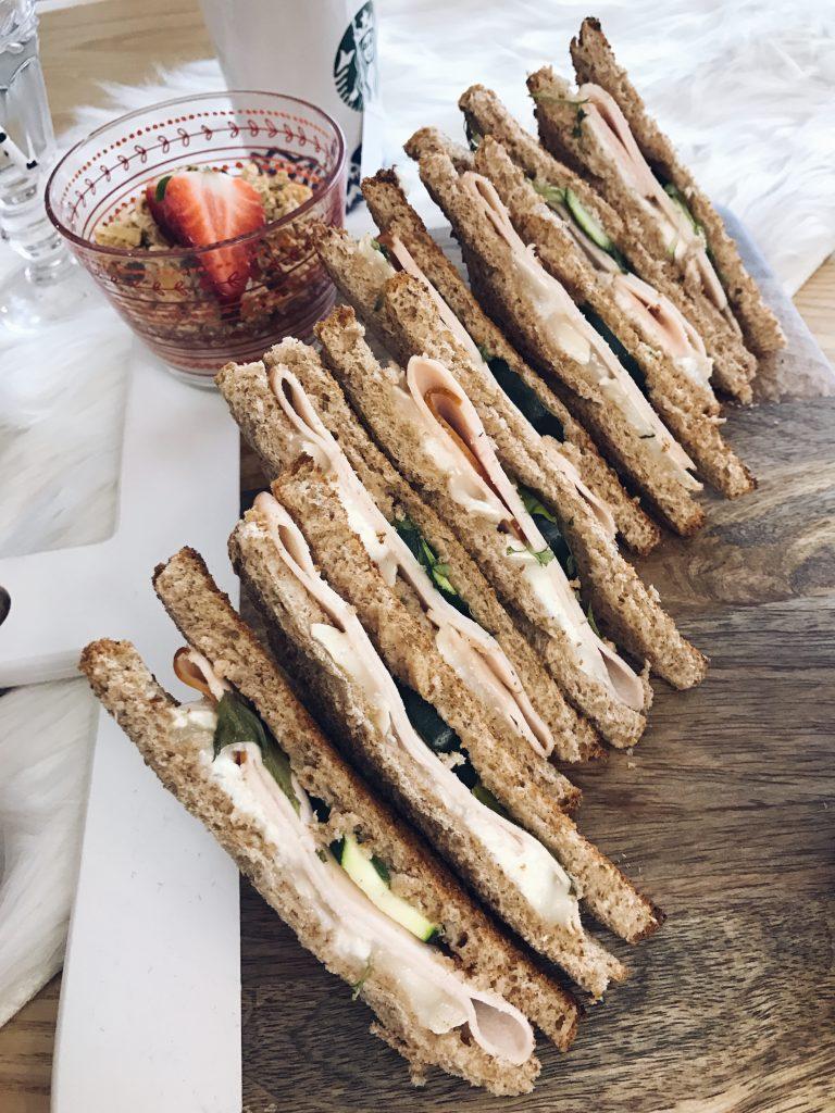 recette club sandwich chèvre courgette poulet