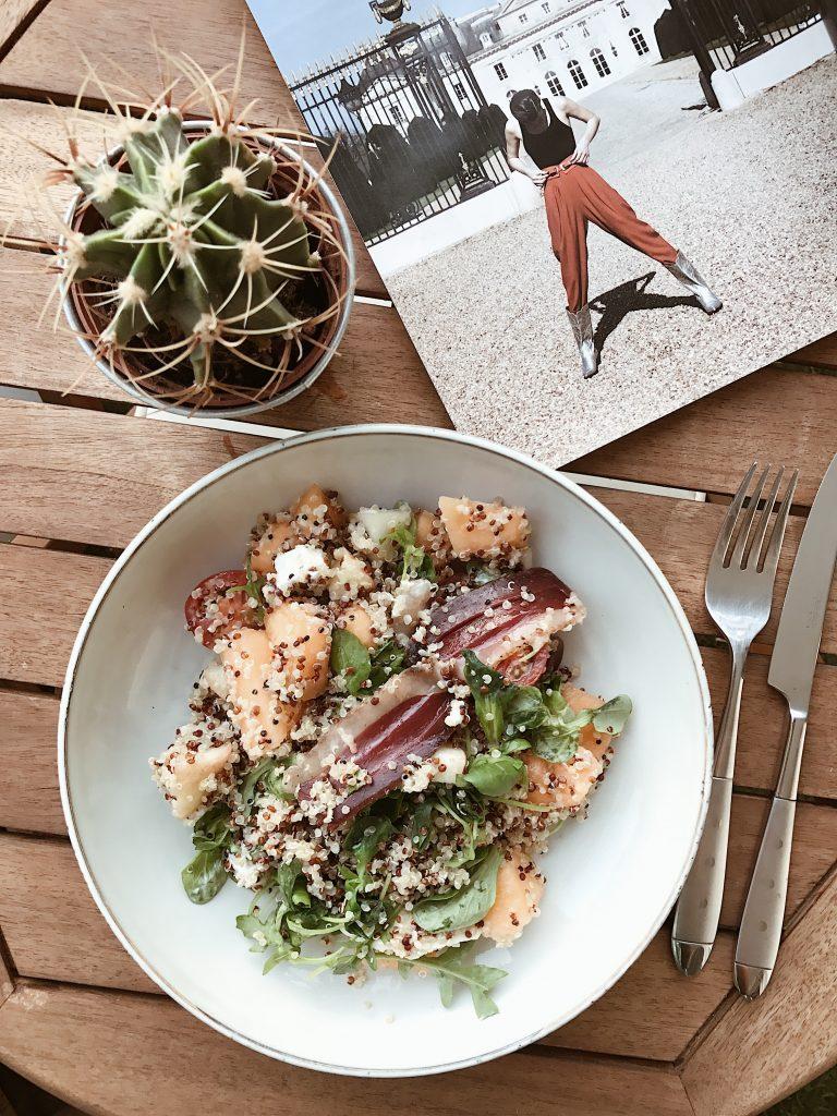 healthy salade quinoa magret