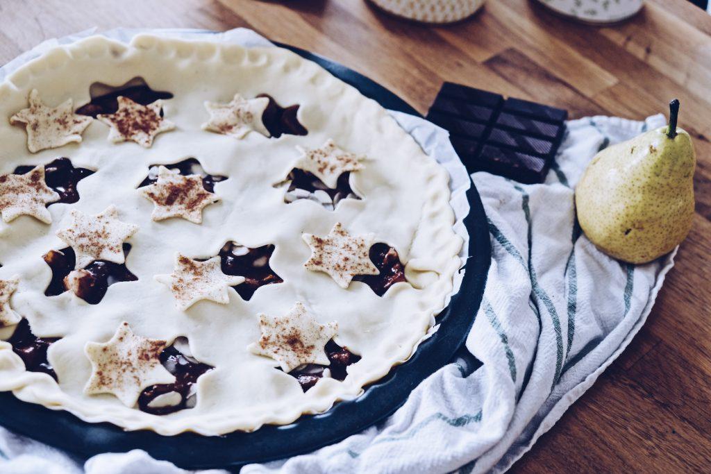 recette tarte poire chocolat